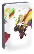 Colored World Map Portable Battery Charger