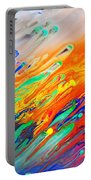 Colorful Abstract Acrylic Painting Portable Battery Charger