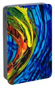 Colorful Abstract Art - Energy Flow 2 - By Sharon Cummings Portable Battery Charger