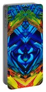 Colorful Abstract Art - Purrfection - By Sharon Cummings Portable Battery Charger