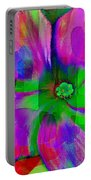 Colorful African Violet Portable Battery Charger