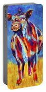Colorful Angus Cow Portable Battery Charger