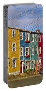 Colorful Apartment Buildings In Saint John's-nl Portable Battery Charger