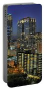 Colorful Austin Skyline At Night Portable Battery Charger