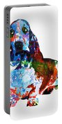 Colorful Basset Portable Battery Charger