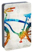 Colorful Bike Art - Free Spirit - By Sharon Cummings Portable Battery Charger