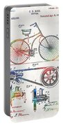 Colorful Bike Art - Vintage Patent - By Sharon Cummings Portable Battery Charger