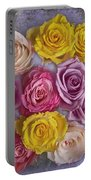 Colorful Bouquet Of Roses Portable Battery Charger