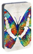 Colorful Butterfly Art By Sharon Cummings Portable Battery Charger