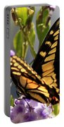 Colorful Butterfly Square Portable Battery Charger