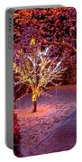 Colorful Christmas Lights On Trees Portable Battery Charger