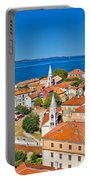 Colorful City Of Zadar Rooftops  Towers Portable Battery Charger