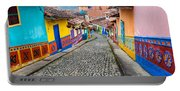 Colorful Cobblestone Street Portable Battery Charger