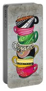 Colorful Coffee Cups Mugs Hot Cuppa Stacked II By Romi And Megan Portable Battery Charger