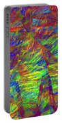 Colorful Computer Generated Abstract Fractal Flame Portable Battery Charger