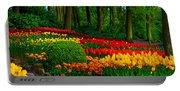 Colorful Corner Of The Keukenhof Garden 4. Tulips Display. Netherlands Portable Battery Charger