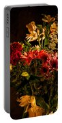 Colorful Cut Flowers In A Vase Portable Battery Charger