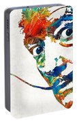 Colorful Dali Art By Sharon Cummings Portable Battery Charger
