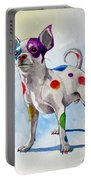 Colorful Dalmatian Chihuahua Portable Battery Charger