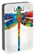 Colorful Dragonfly Art By Sharon Cummings Portable Battery Charger