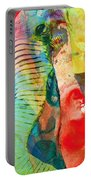 Colorful Elephant Art By Sharon Cummings Portable Battery Charger by Sharon Cummings