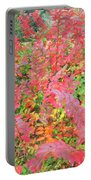 Colorful Fall Leaves Autumn Crepe Myrtle Portable Battery Charger
