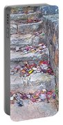 Colorful Fall Leaves Autumn Stone Steps Old Mentone Inn Alabama Portable Battery Charger
