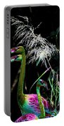 Colorful Flamingos Portable Battery Charger