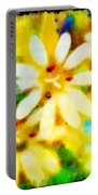 Colorful Floral Abstract - Digital Paint Portable Battery Charger