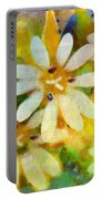 Colorful Floral Abstract I Portable Battery Charger