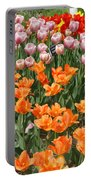 Colorful Flower Bed Portable Battery Charger