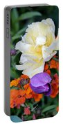 Colorful Flowers Portable Battery Charger