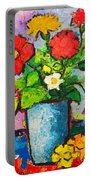 Colorful Flowers From My Garden Portable Battery Charger