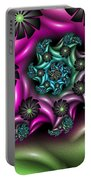 Colorful Fractal Portable Battery Charger