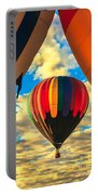 Colorful Framed Hot Air Balloon Portable Battery Charger by Robert Bales