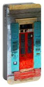 Colorful French Quarter Door  Portable Battery Charger