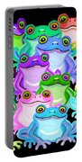 Colorful Frogs Portable Battery Charger