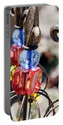 Colorful Glass And Metal Garden Ornaments Portable Battery Charger