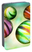 Colorful Glass Marbles Portable Battery Charger
