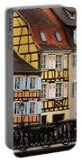 Colorful Homes Of La Petite Venise In Colmar France Portable Battery Charger