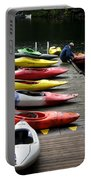 Colorful Kayaks At Whistler Bc Portable Battery Charger