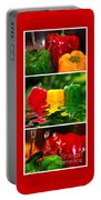 Colorful Kitchen Collage Portable Battery Charger