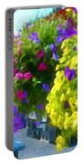 Colorful Large Hanging Flower Plants 1 Portable Battery Charger
