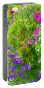 Colorful Large Hanging Flower Plants 3 Portable Battery Charger