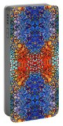Colorful Layers Vertical - Abstract Art By Sharon Cummings Portable Battery Charger by Sharon Cummings