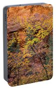 Colorful Leaves On A Tree Portable Battery Charger
