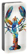 Colorful Lobster Art By Sharon Cummings Portable Battery Charger