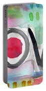Colorful Love- Painting Portable Battery Charger by Linda Woods