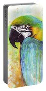 Macaw Painting Portable Battery Charger by Olga Shvartsur