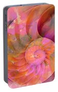 Colorful Nautilus Shell By Sharon Cummings Portable Battery Charger